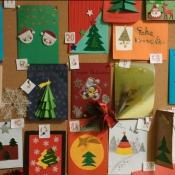 Szkolny konkurs na kartkę świąteczną w języku niemieckim (22.12.2016)