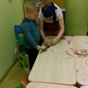 Warsztaty robienia palm w klasach zerowych