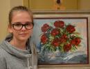 Malarstwo Julii Zalewskiej uczennicy kl. I GA