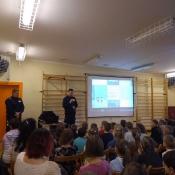 E bezpieczeństwo - wizyta pracowników Policji w Chrobrym - 2019-02-27 r.