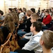 Goście z lubelskich szkół na wykładzie prof. W. Janickiego (12.01.2018)