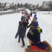 Kasy I A i I B na zimowym spacerze 2019 r.
