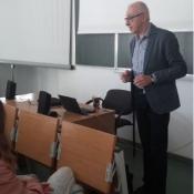 Klasa 6a na zajęciach z fonetyki niemieckiej na UMCS w Lublinie (5.04.2017)