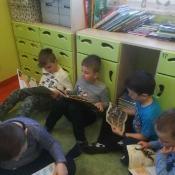 Klasa I A uwielbia czytać książki. 2019 r.