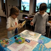Klasy 4 na przedświątecznych warsztatach w Motyczu (10.12.2019)