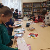 Klasy 4a i 4b w bibliotece British Council (12.04.2019)