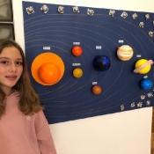 Klasy 6 tworzą kosmiczne makiety (4.11.2020)