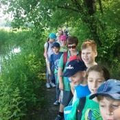 Klasy III A i III B na wycieczce pieszej - czerwiec 2016 r.