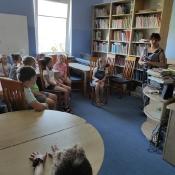 Lekcja biblioteczna w klasach 3 (czerwiec 2021)
