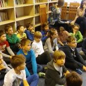 Lekcja biblioteczna w klasach III - 28.04.2017 r.