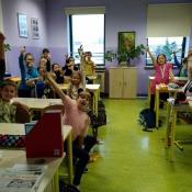 Lekcja kleksografii w 4a (23.10.2017)