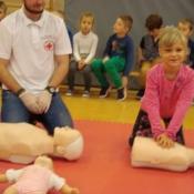 Lekcja pierwszej pomocy dla uczniów klas młodszych (22.10.2015)