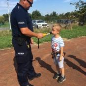 Spotkanie klas 0 z policjantem