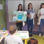 Szóstoklasiści apelują o ograniczenie plastiku (17.05.2019)
