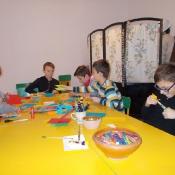 Tradycyjne ozdoby choinkowe - klasy 5a i 5b na warsztatach w Muzeum Wsi Lubelskiej (15.12.2015)