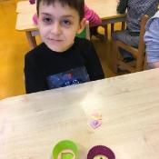 Warsztaty mydlarskie w klasach 0 (17.03.2021)