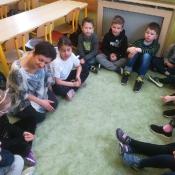 Warsztaty w klasie I A - poznajemy swoje emocje 2019-03-19