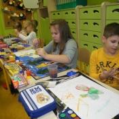 Zabawa kolorem - klasa I A -09.11.2015r