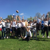 Zajęcia pokazowe i miniturniej Rugby - Tag - klasy V - 18.04.2018 r.
