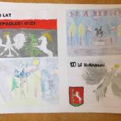 100 rocznica odzyskania przez Polskę niepodległości w malarstwie dzieci