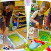 Żabki poznają sztukę Ebru z mamą Ninki
