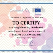 Biedronki biorą udział w #CodeWeek'u_15