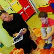 Biedronkowe czytanie z mamą Michałka