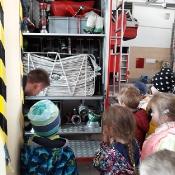 Maciusiowe przedszkolaki w Straży Pożarnej