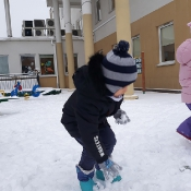 Śnieżne zabawy Motylków
