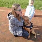 Vega - czworonożny przyjaciel Julii z wizytą u przedszkolaków_23