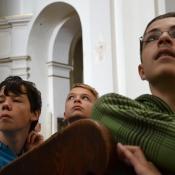 Klasy drugie gimnazjum w Archikatedrze Lubelskiej