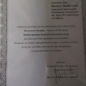 Krzysztof Stasiak nagrodzony w konkursie matematycznym _4