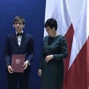 Mikołaj Walicki podwójnym stypendystą (10.01.2020) _4