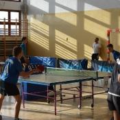 Piotrek Krzak na zawodach wojewódzkich w tenisa stołowego