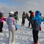 Sobieski na nartach w Alpach
