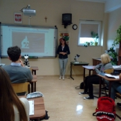 Spotkanie uczniów klas 1 z Klaudią Tylus