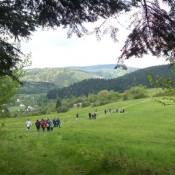Wycieczka klas 1 gimnazjum w Bieszczady