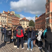 Wycieczka klas drugich i trzecich do Warszawy